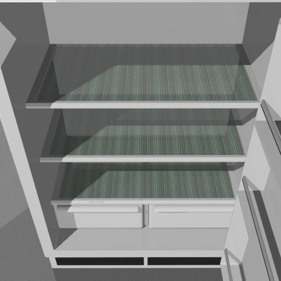 Refrigerator With Opening Doors royalty-free 3d model - Preview no. 12