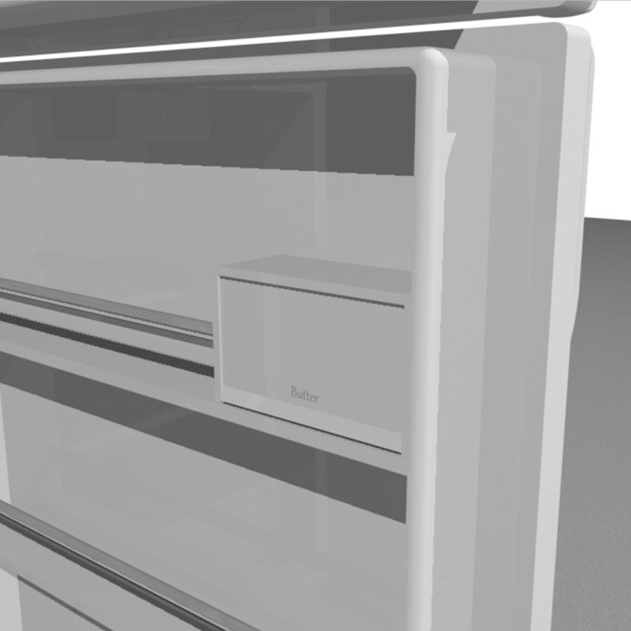 Refrigerator With Opening Doors royalty-free 3d model - Preview no. 16