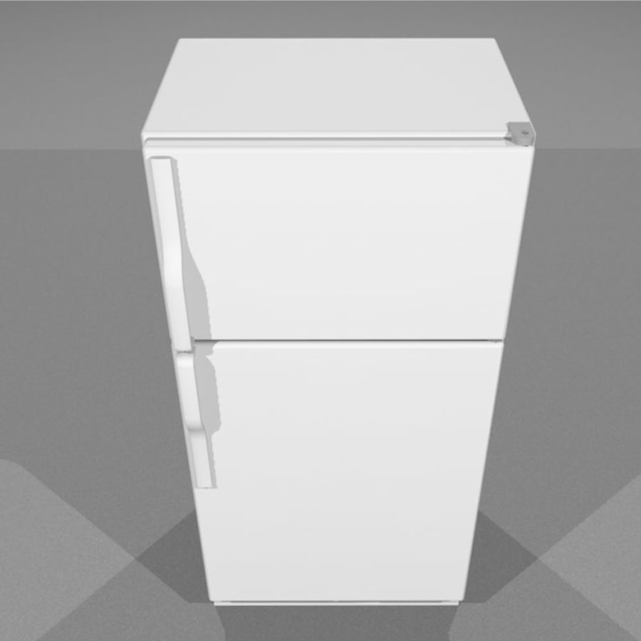 Refrigerator With Opening Doors royalty-free 3d model - Preview no. 7