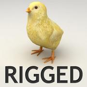 Modèle lowpoly de poulet bébé 3d model