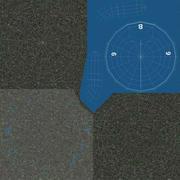 Curling Taşı Mavi 3d model