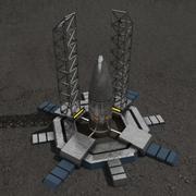 Costruzione fantascientifica del silo di razzi 3d model