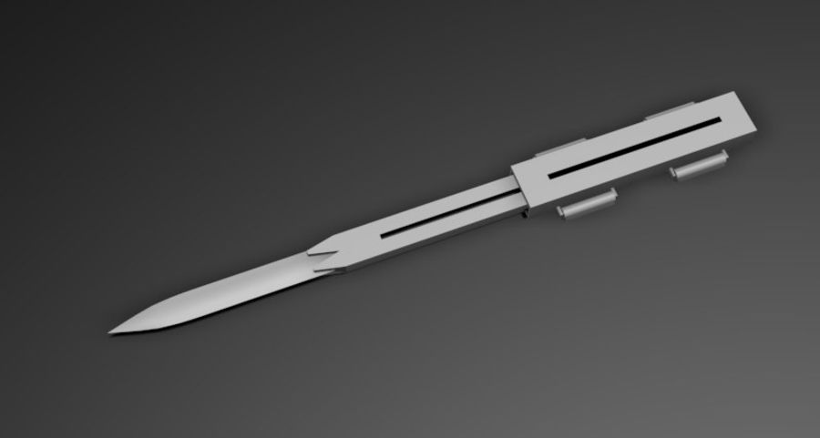Hidden Blade royalty-free 3d model - Preview no. 2