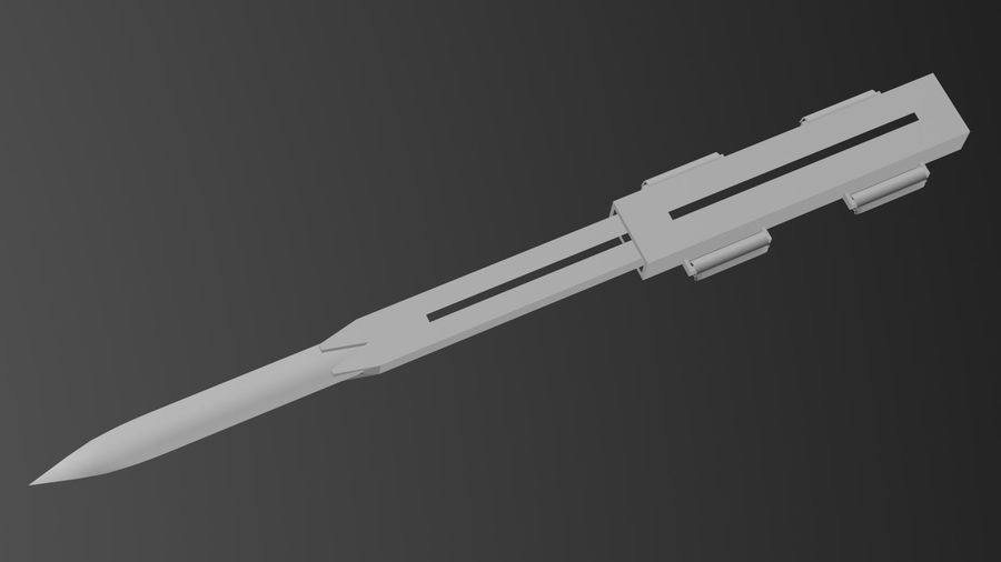 Hidden Blade royalty-free 3d model - Preview no. 8
