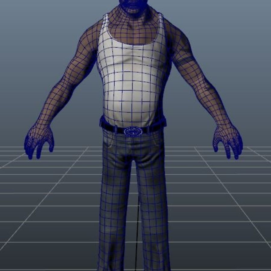 Homme personnage Biker royalty-free 3d model - Preview no. 7