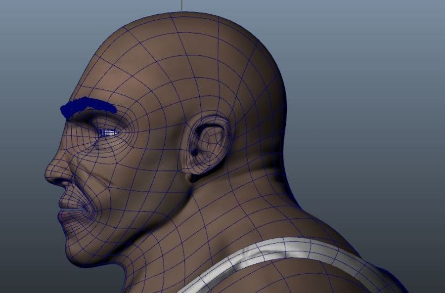 Homme personnage Biker royalty-free 3d model - Preview no. 9