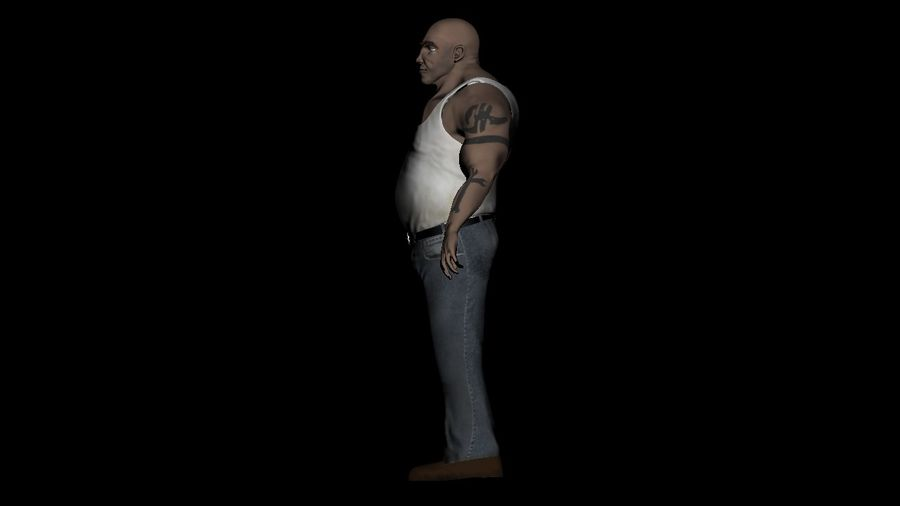 Homme personnage Biker royalty-free 3d model - Preview no. 6