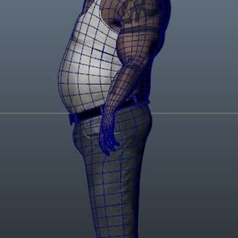 Homme personnage Biker royalty-free 3d model - Preview no. 8