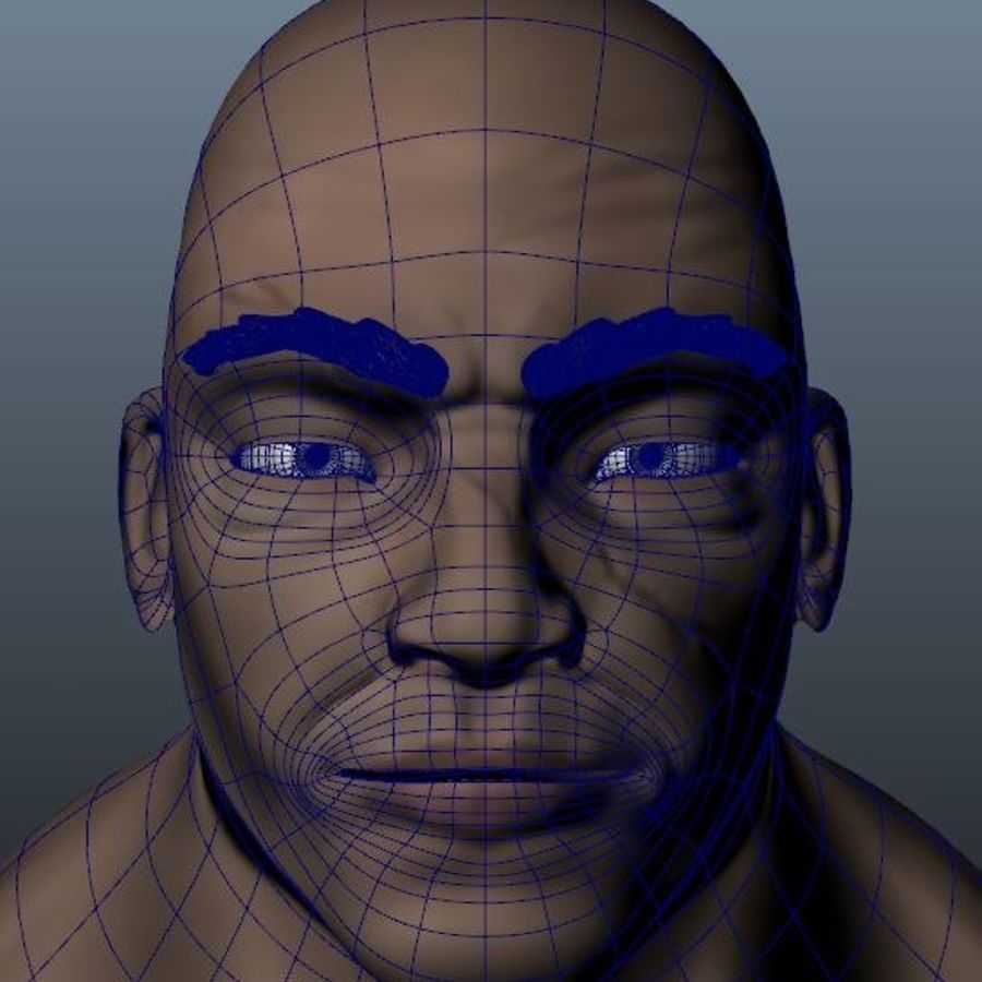 Homme personnage Biker royalty-free 3d model - Preview no. 10