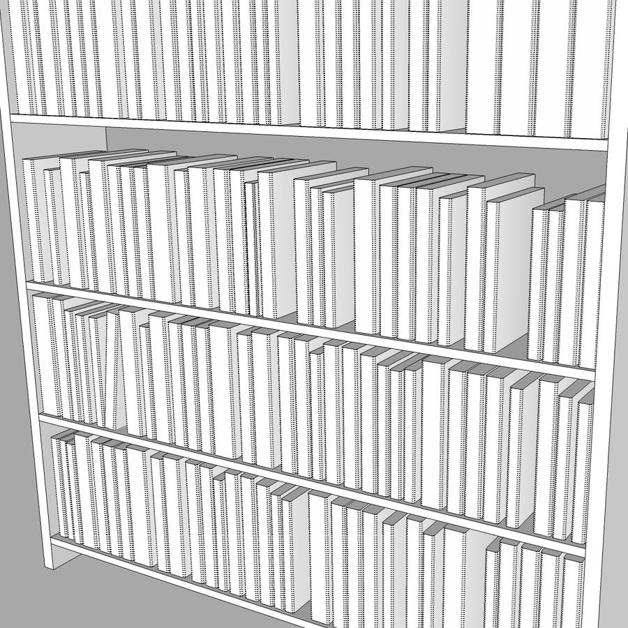 Bookshelf With Books: C4D Format royalty-free 3d model - Preview no. 11