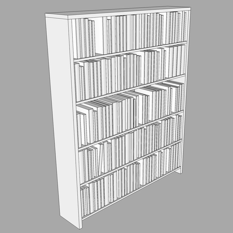 Bookshelf With Books: C4D Format royalty-free 3d model - Preview no. 10