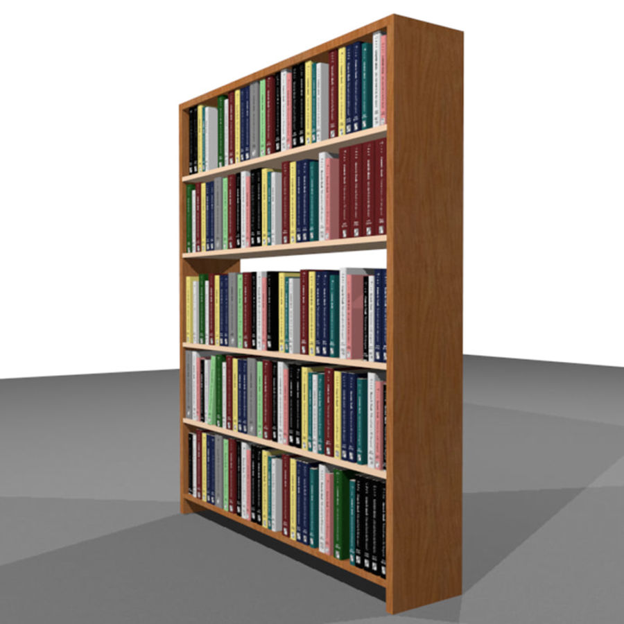 Bookshelf With Books: C4D Format royalty-free 3d model - Preview no. 3
