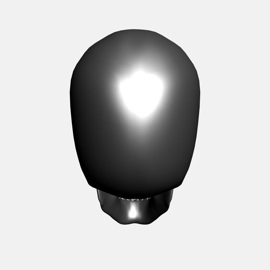 Metalowa czaszka royalty-free 3d model - Preview no. 6
