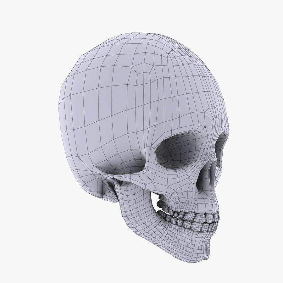 Metalowa czaszka royalty-free 3d model - Preview no. 12