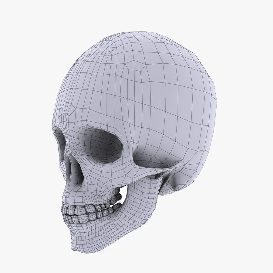 Metalowa czaszka royalty-free 3d model - Preview no. 11