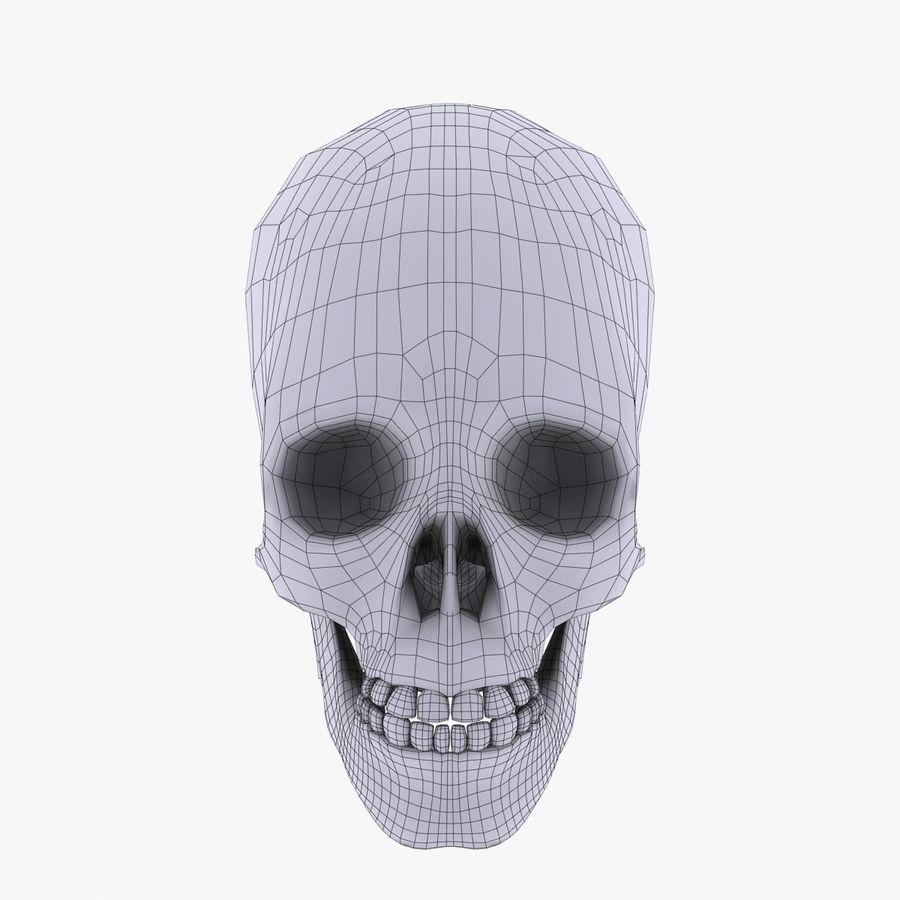 Metalowa czaszka royalty-free 3d model - Preview no. 10