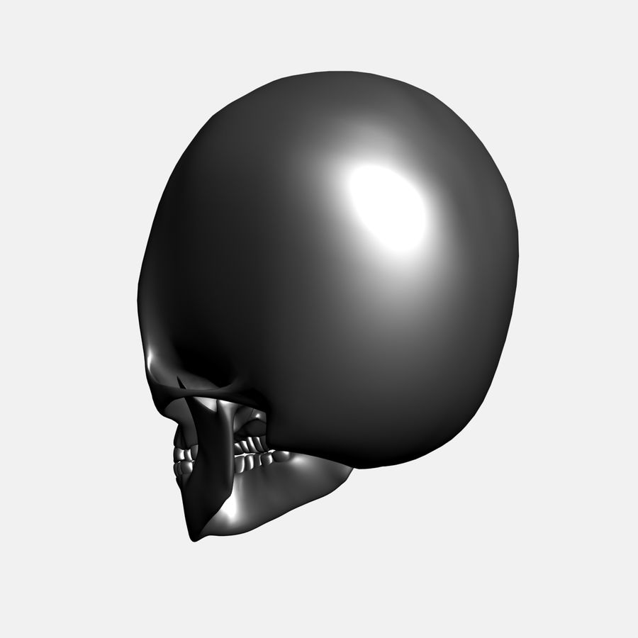 Metalowa czaszka royalty-free 3d model - Preview no. 5