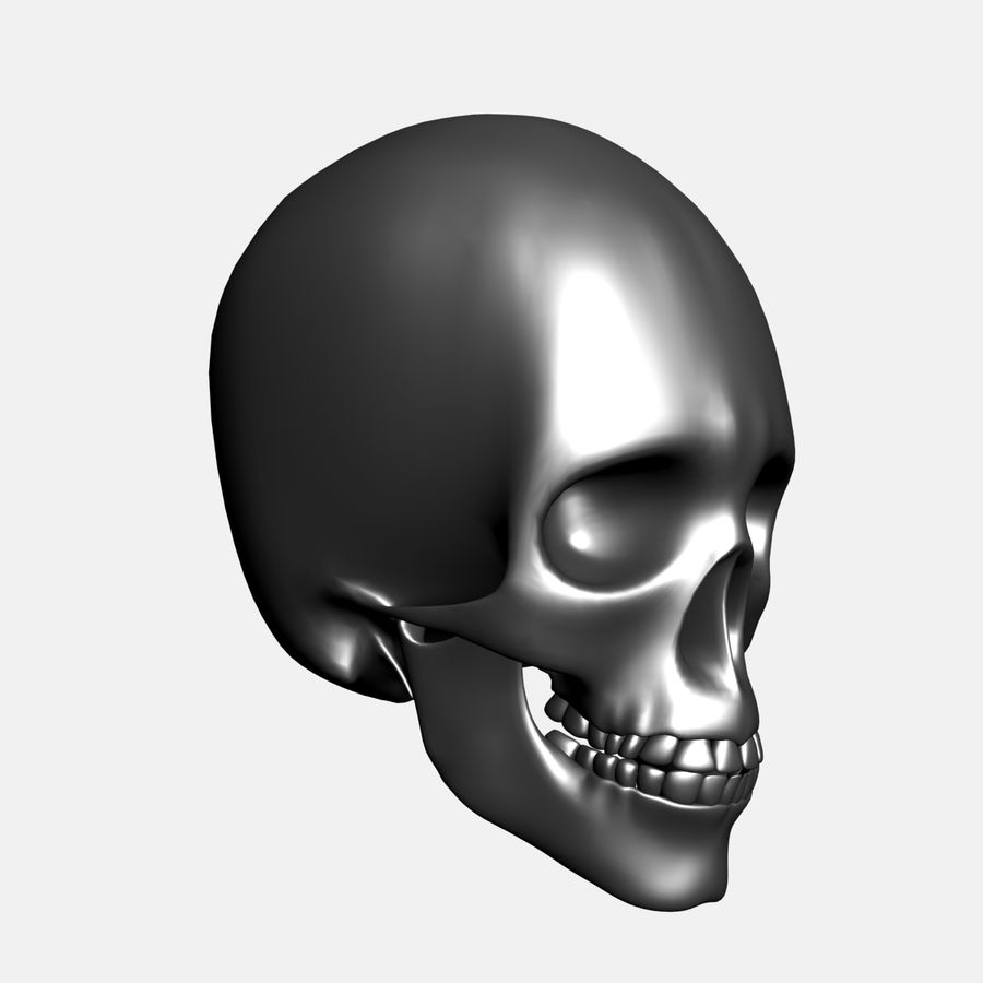 Metalowa czaszka royalty-free 3d model - Preview no. 9