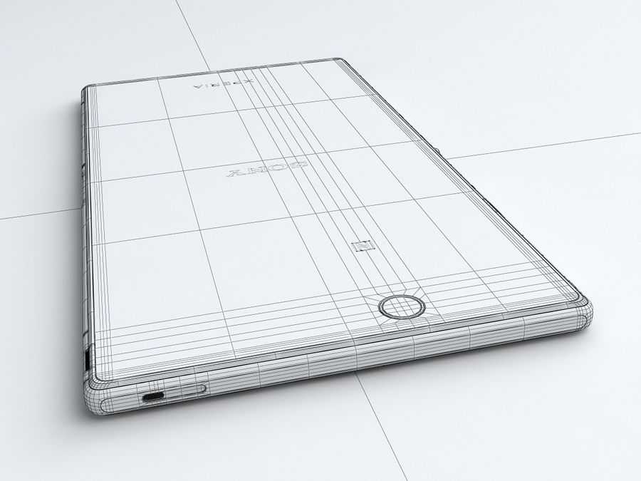 Sony Xperia Z Ultra royalty-free 3d model - Preview no. 29