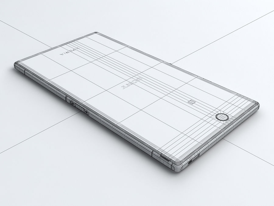 Sony Xperia Z Ultra royalty-free 3d model - Preview no. 27
