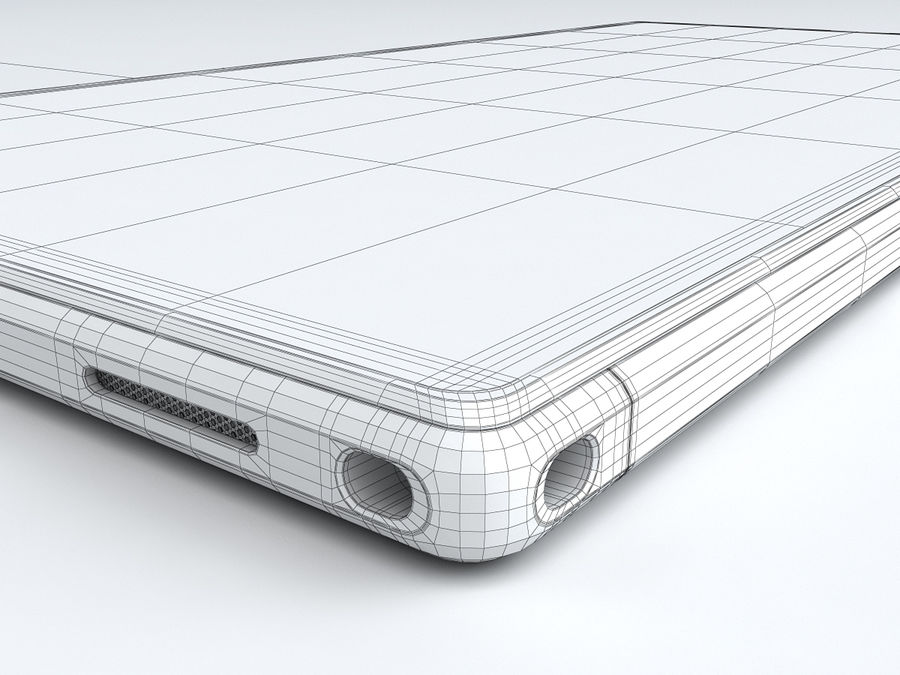 Sony Xperia Z Ultra royalty-free 3d model - Preview no. 31