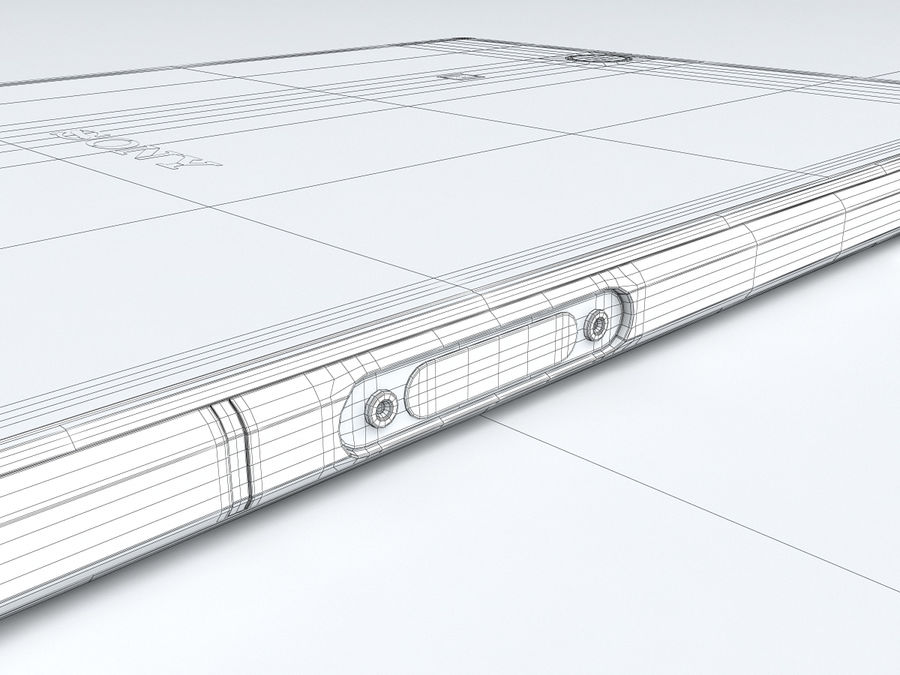 Sony Xperia Z Ultra royalty-free 3d model - Preview no. 34
