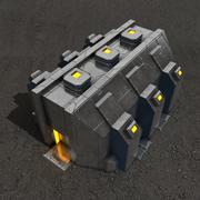 Budynek science fiction w zajezdni 3d model