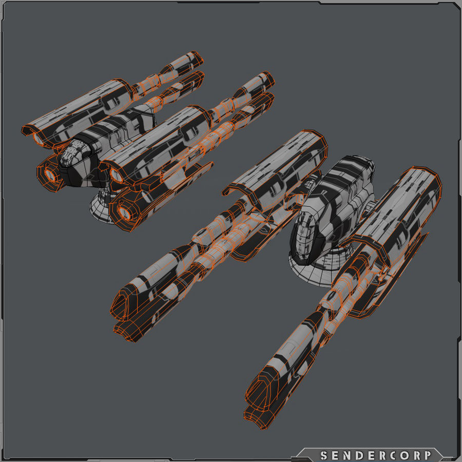 PISTOLET royalty-free 3d model - Preview no. 10