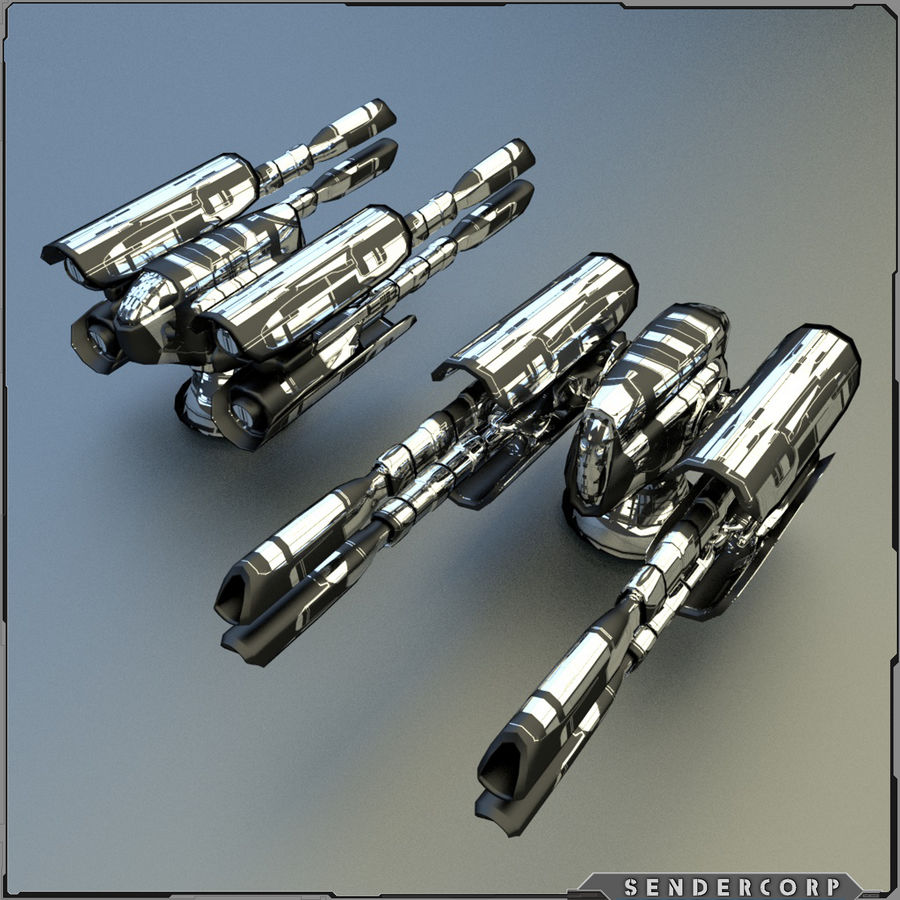 PISTOLET royalty-free 3d model - Preview no. 7