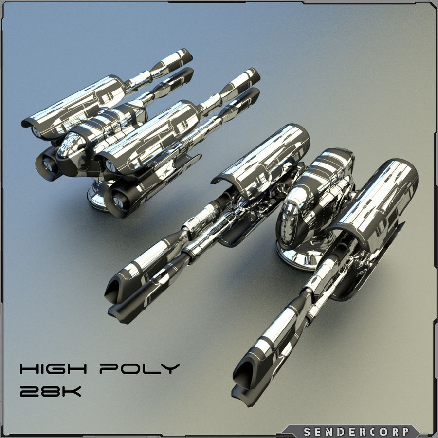PISTOLET royalty-free 3d model - Preview no. 1