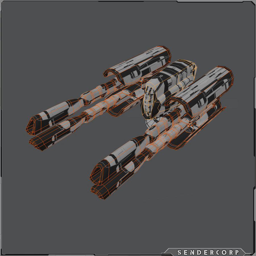 PISTOLET royalty-free 3d model - Preview no. 6