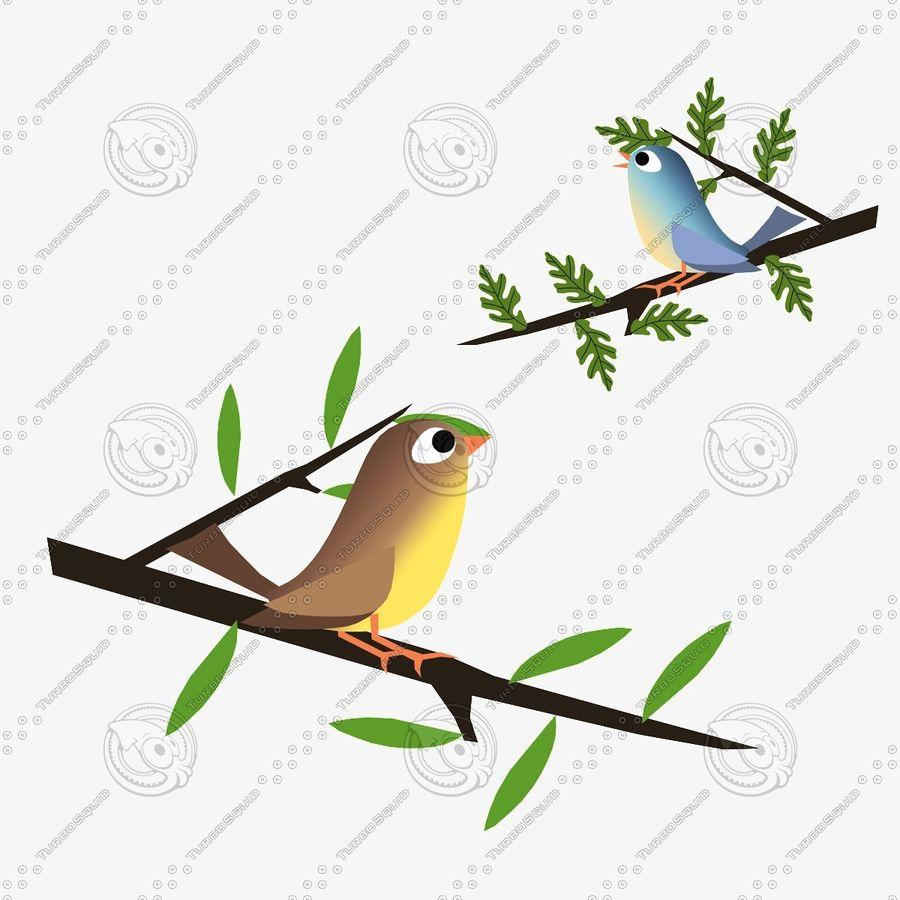 Animowane ptaki royalty-free 3d model - Preview no. 1