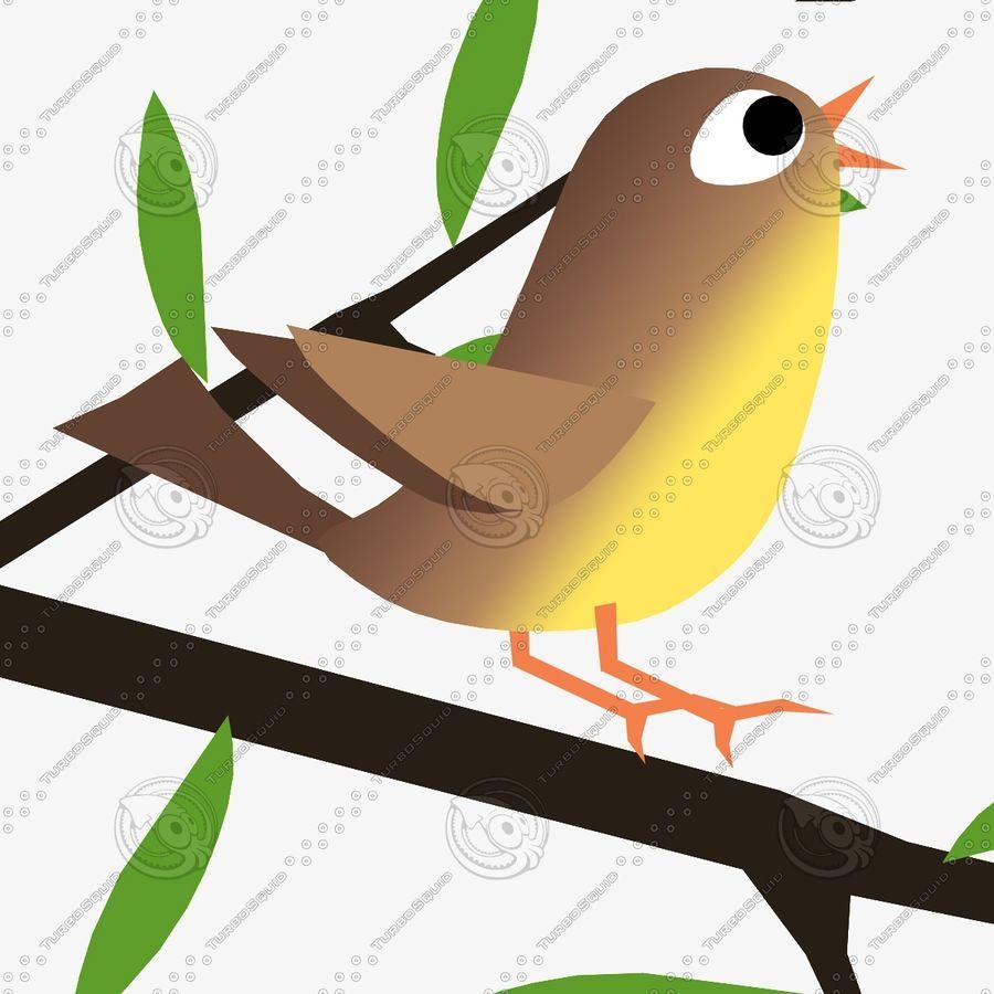 Animowane ptaki royalty-free 3d model - Preview no. 6