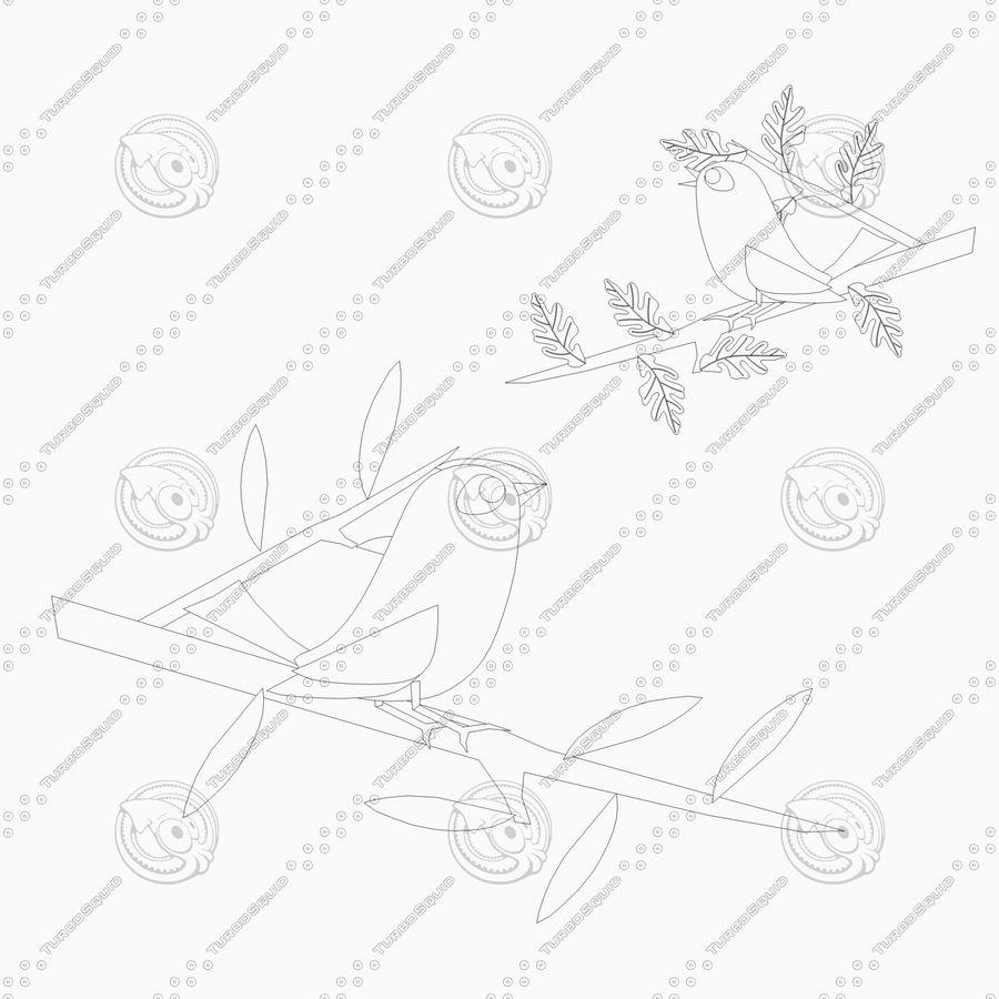 Animowane ptaki royalty-free 3d model - Preview no. 3