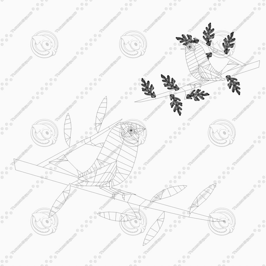Animowane ptaki royalty-free 3d model - Preview no. 4