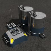 Station de carburant bâtiment de science-fiction 3d model