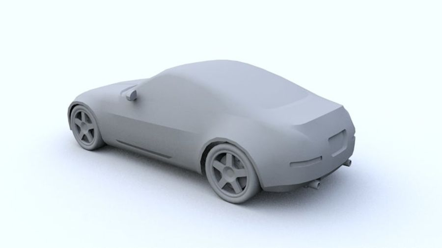 Low Poly Nissan 350Z royalty-free 3d model - Preview no. 3
