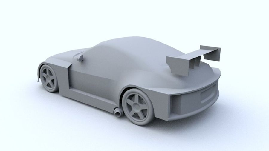 Low Poly Nissan 350Z royalty-free 3d model - Preview no. 6