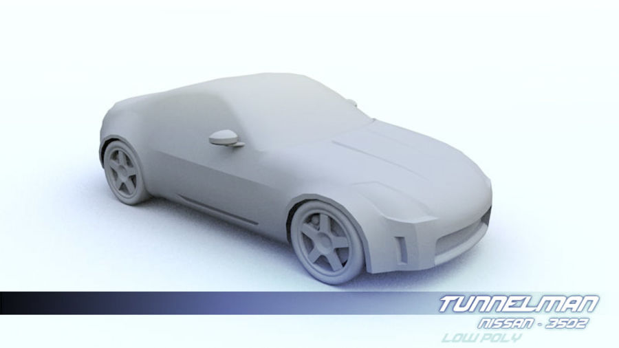 Low Poly Nissan 350Z royalty-free 3d model - Preview no. 1