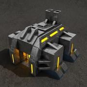 Usine de science-fiction 3d model