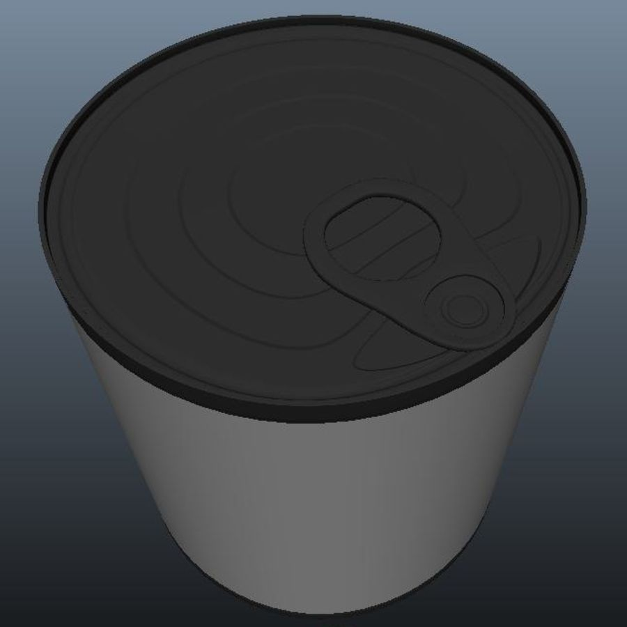 Food Can royalty-free 3d model - Preview no. 5