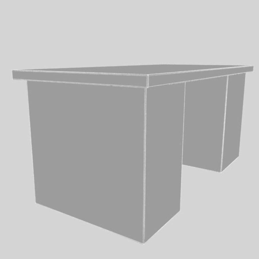 Biurko royalty-free 3d model - Preview no. 4