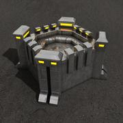 Fortificación de edificio de ciencia ficción. modelo 3d