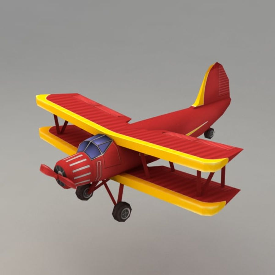 Samolot royalty-free 3d model - Preview no. 1