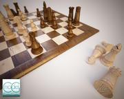 체스 세트 A 3d model