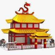 Cartoon Chinese Restaurant 3d model