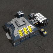 Entrepôt de science-fiction 3d model