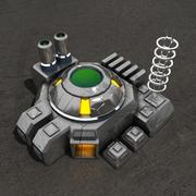 Reactor sci-fi-byggnad 3d model