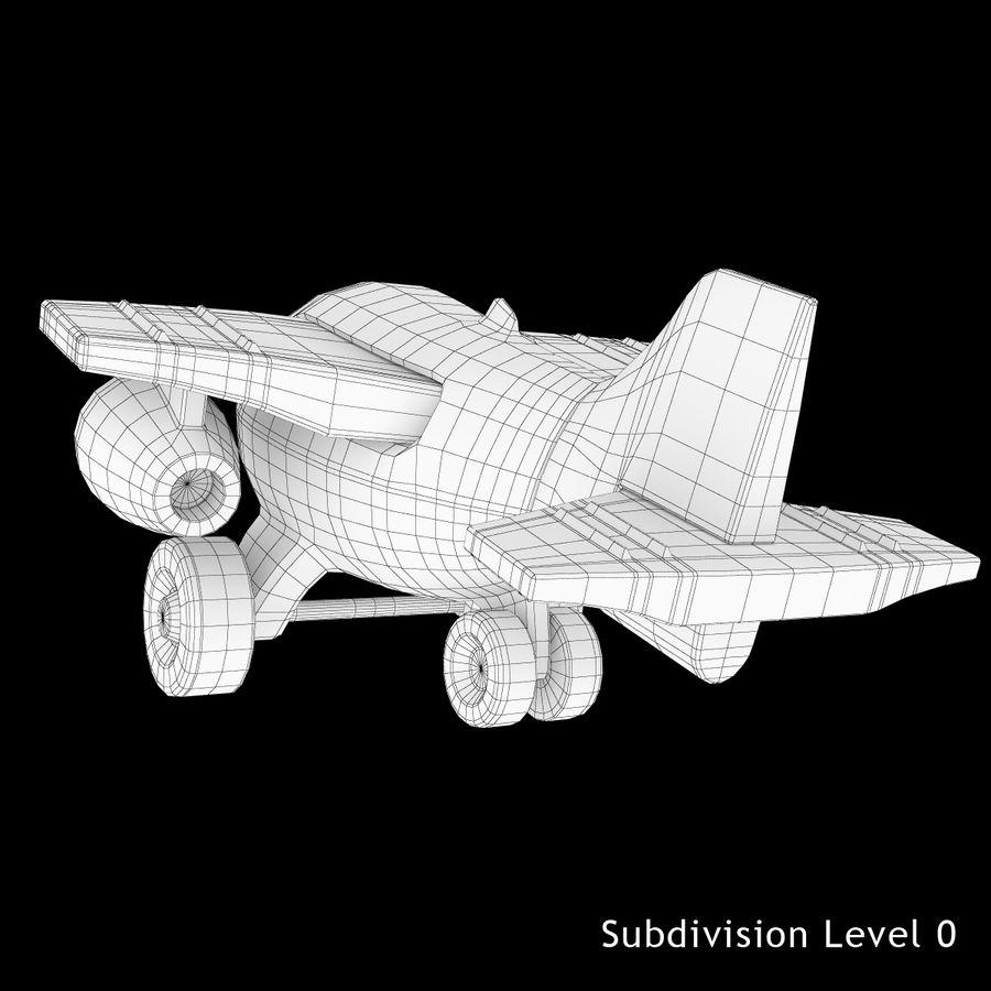 Avião de brinquedo royalty-free 3d model - Preview no. 10