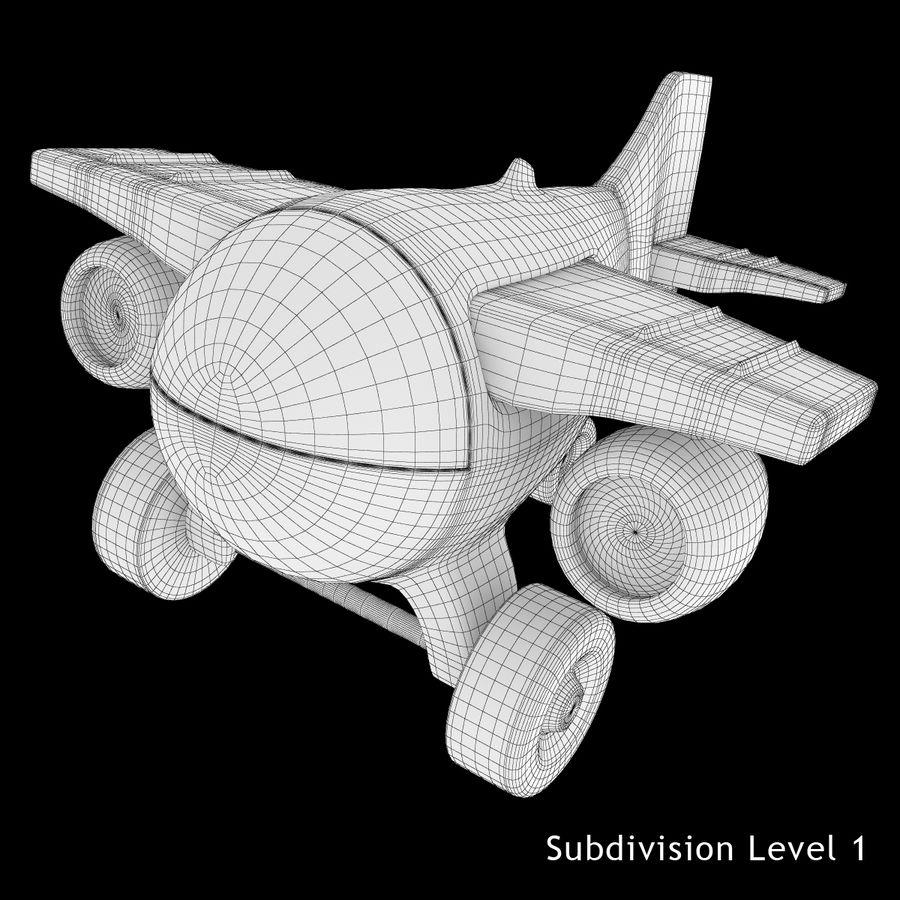 Avião de brinquedo royalty-free 3d model - Preview no. 9